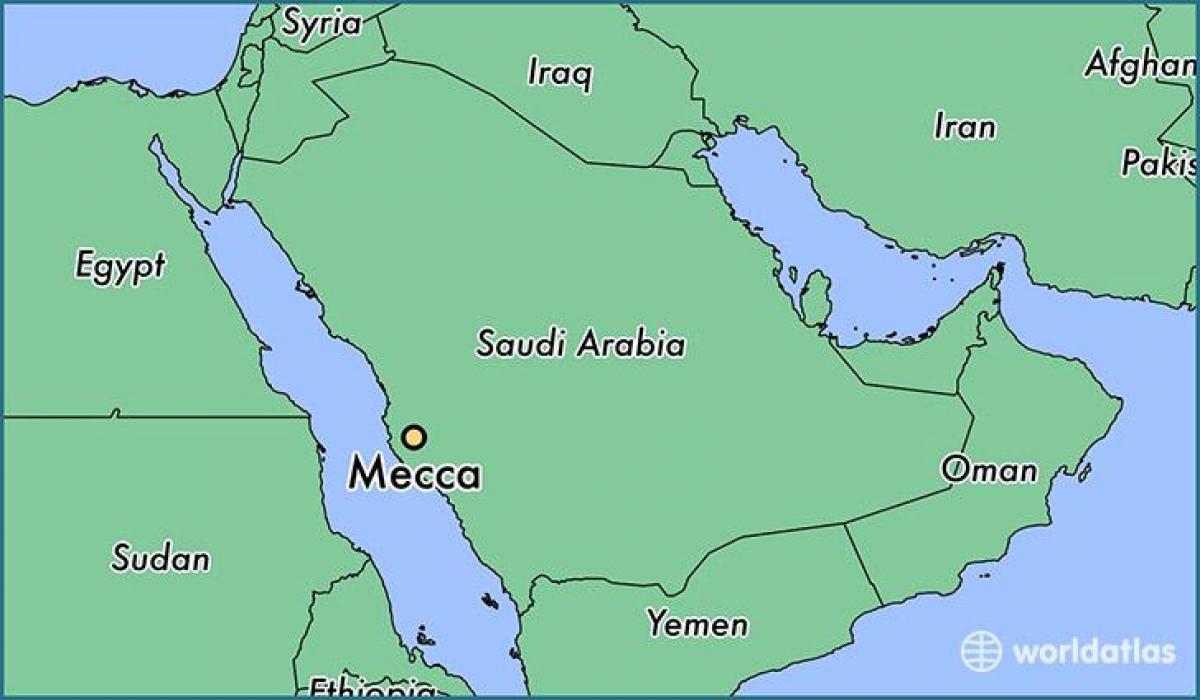 Makkah Placering Pa Kort Mekka Pa Kort Saudi Arabien